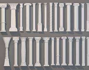 3D Columns Collection -1 - 27 pieces architectural
