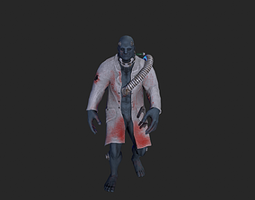 animated Zombie low-poly 3D model