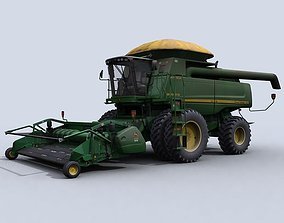 3D asset Combine Harvester 1 with Belt Pickup