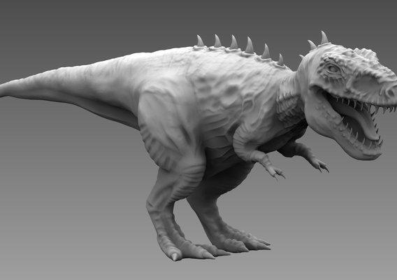 Trex High Quality 3D model - 3d print model