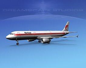 3D Airbus A321 Martinair