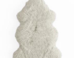 furry 3D model Sheepskin Rug