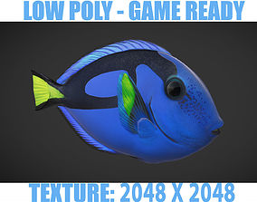 Fish Paracanthurus hepatus 1 3D asset