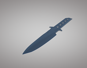 Throwing knife dagger 3D asset low-poly