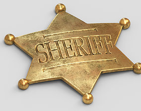 justice Sheriff Badge 3D