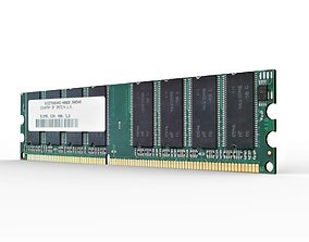 DDR 1GB DIMM Memory Module 3D asset