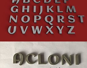 ACLONICA uppercase and lowercase 3D Letters STL FILE