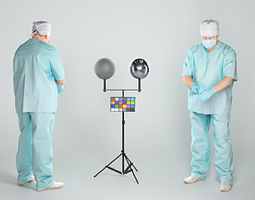 Middle-aged surgeon is operating 66 3D asset