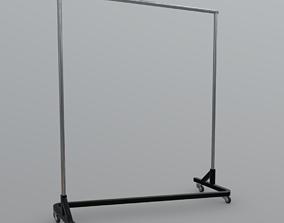3D model low-poly Clothes Rack