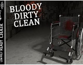3D asset WheelChair Bloody Dirty Clean