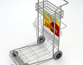 Airport Luggage Cart 3D
