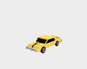 3D asset Voxel Racing Car