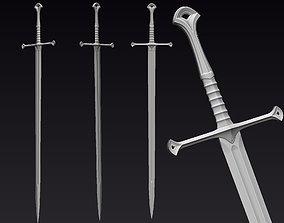 Medieval Sword Print Ready 3D printable model