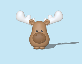 A Moose to decorate and play 3D printable model