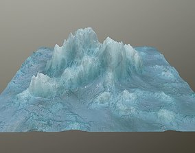 ice Mountain rock 3D asset realtime