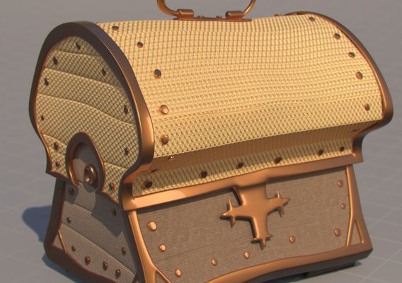Cartoonish ancient chests with realistic materials