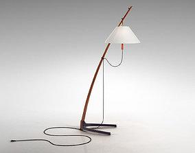 Dornstab Floor Lamp 3D model white