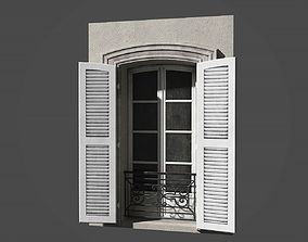Modular french window 3D asset facade