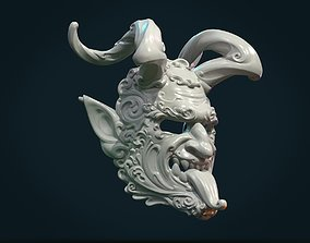 Demon Satyr Mask 3D print model