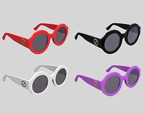 Gucci Round Sunglasses 0084s 3D model