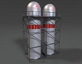 3D asset Vertical Fuel Silo PBR
