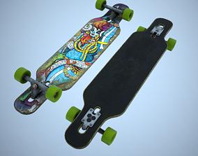 3D asset skate Longboard