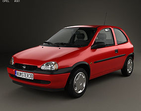 Opel Corsa B 3-door hatchback 1998 3D