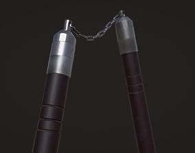 Nunchaku Model - Textures 3D asset