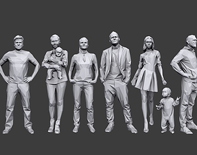 Lowpoly People Casual Pack 3D asset