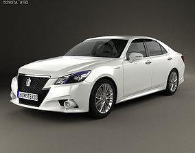 3D model Toyota Crown Hybrid Athlete 2013