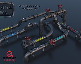 Modular Industrial Pipes PBR 3D asset