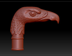 cane with eagle head 3D print model
