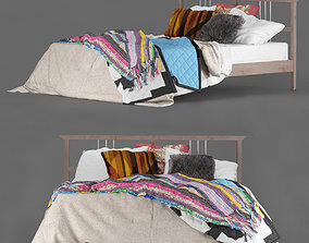Bed IKEA Rikene Boho 3D model