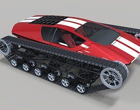 3D model Concept tracked sport car race