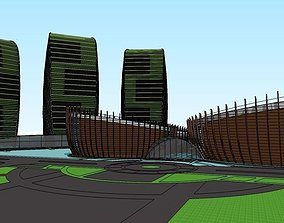 iconic buildings layout 3D model realtime