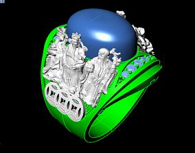 3D printable model Ring of god of wealth diamond-ring