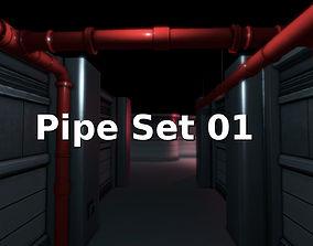 Pipe Set 01 3D model