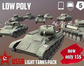 USSR Toon Light Tanks Pack 3D model