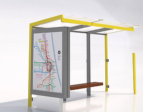 3D model MMCite 310b Bus Shelter