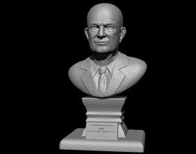 Dwight David Eisenhower Bust Model art