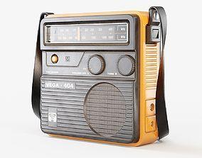 Retro Portable Radio Vega 3D model