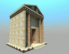low-poly Roman Tample - Low poly model