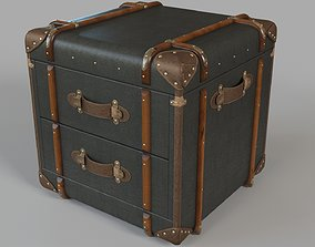 Richards Trunk 2 Drawer Cube Charcoal Canvas 3D model
