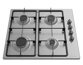 3D model Brushed steel Gas Cooking Panel PBP6B6B60 by
