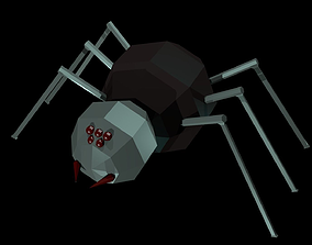 3D model Low polygon spider
