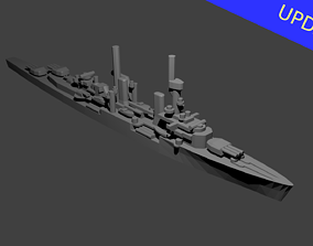 German Konigsberg Class Cruiser 3D print model