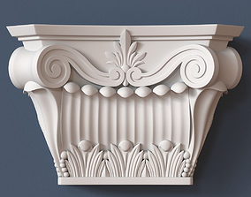 architectural Pilaster Capital 3D model