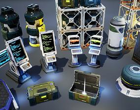 Sci-Fi Props Pack vol 2 3D asset