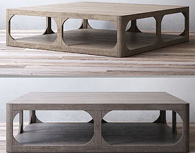 RH MARTENS SQUARE COFFEE TABLE 3D