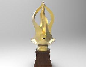 3D model trophy award